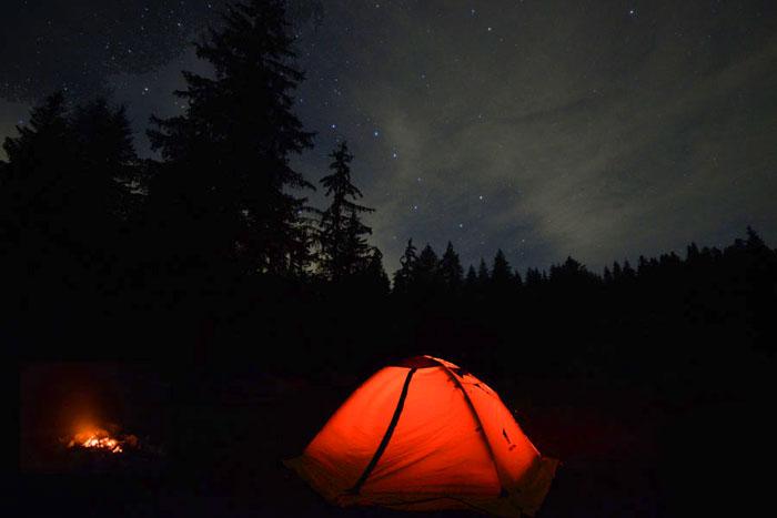 Escursione tenda sotto le stelle