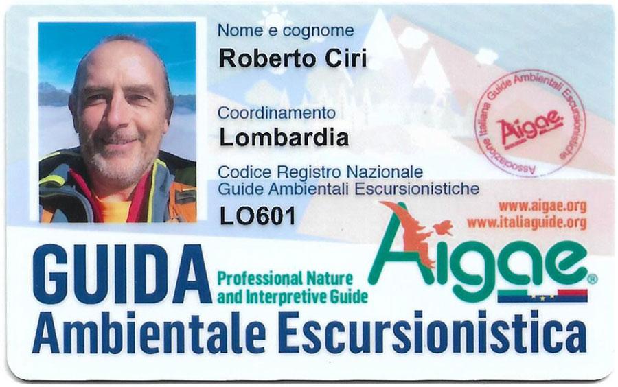 Tessera Aigae Roberto Ciri - Guida Ambientale Escursionistica