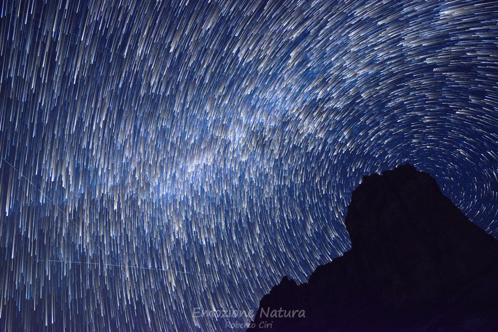 Star trail in Dolomiti