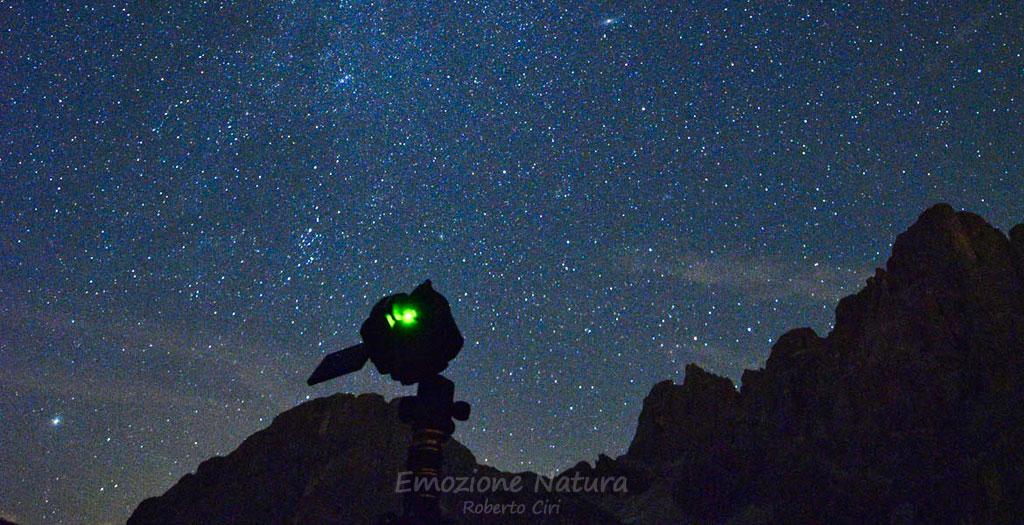 Fotografando il cielo stellato sulle Dolomiti