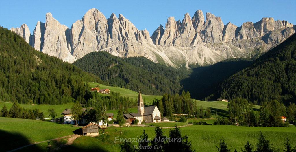 Le splendide Odle in Val di Funes