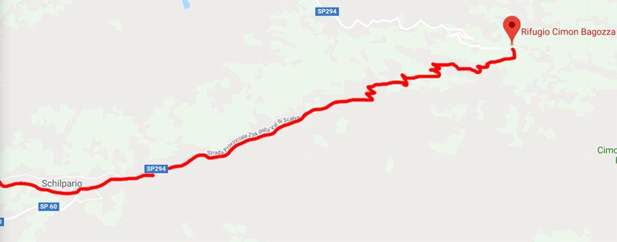 Strada Rifugio Cimon della Bagoza