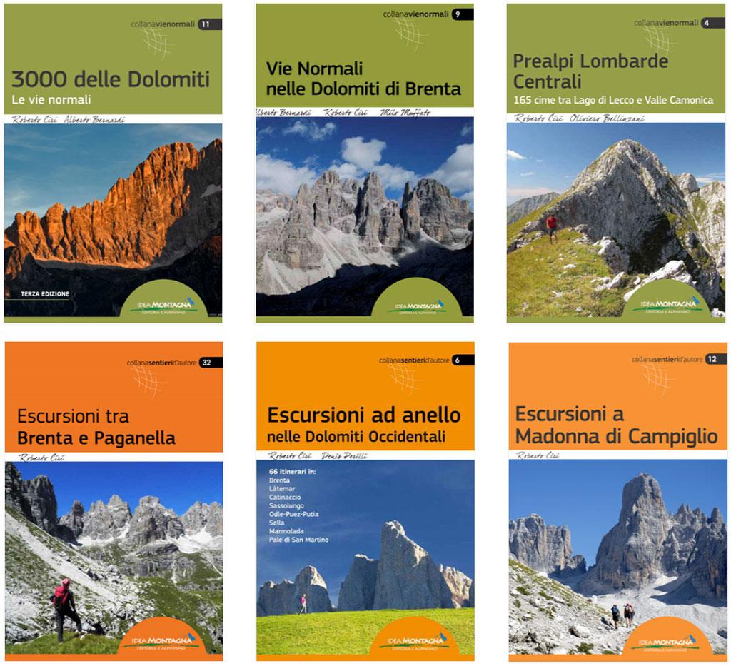 Alcuni dei libri di escursionismo scritti da Roberto Ciri