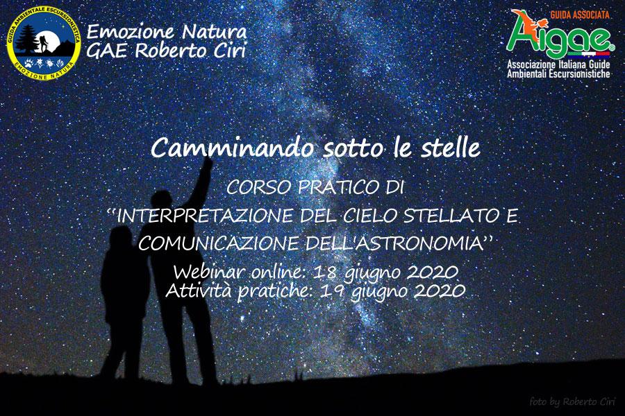 Corso astronomia per guide Aigae