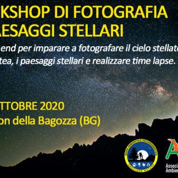 Workshop di fotografia di paesaggi stellari