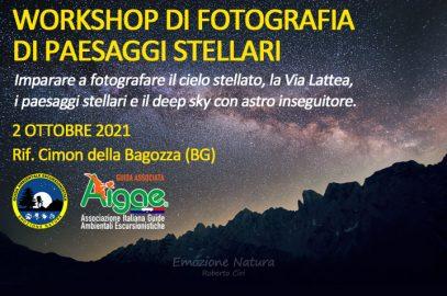Workshop astro fotografia cielo stellato
