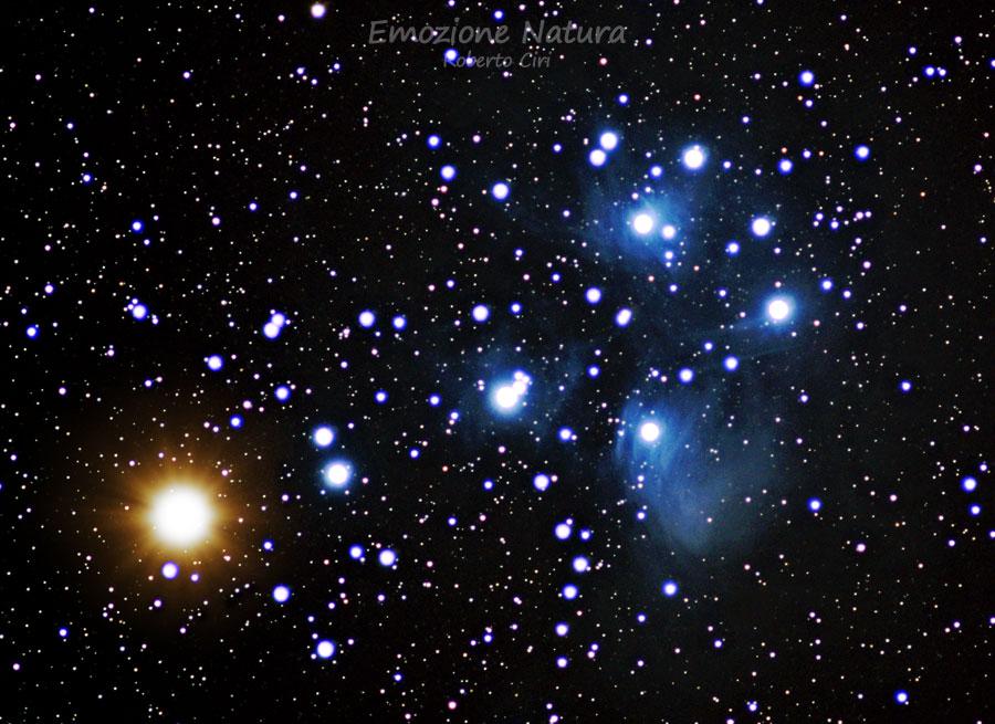 Venere nell'ammasso aperto delle Pleiadi