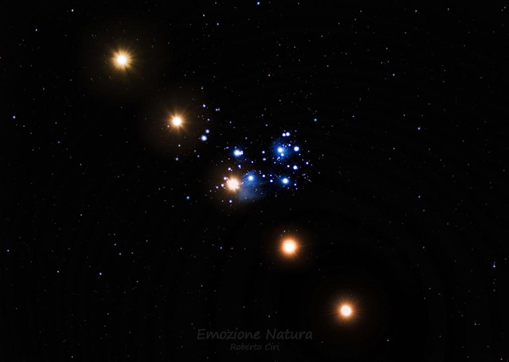 Transito di Venere nell'ammasso aperto delle Pleiadi